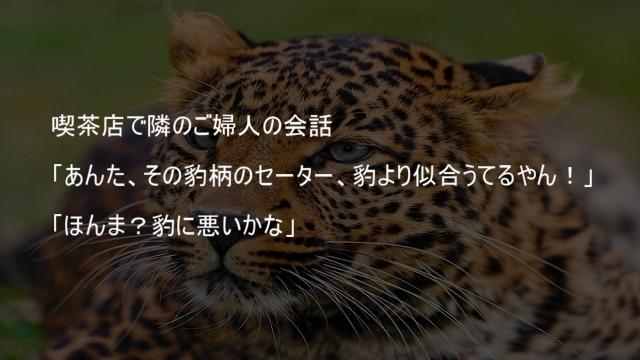 豹より豹柄が似合うおばさん