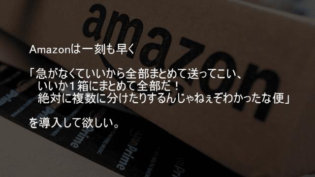 Amazonは1箱でまとめて送れ