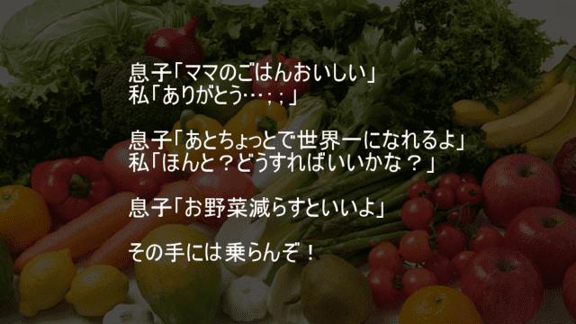 野菜を減らすとママのご飯は世界一