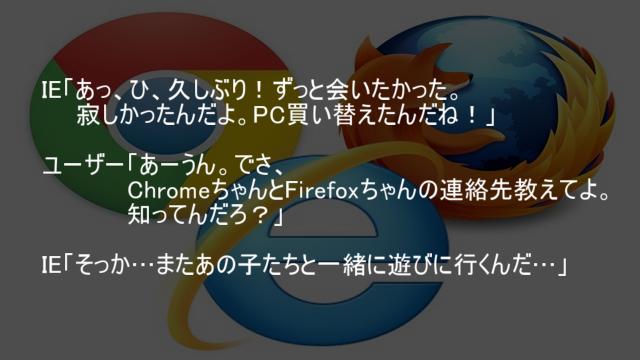 IE Chrome Firefox