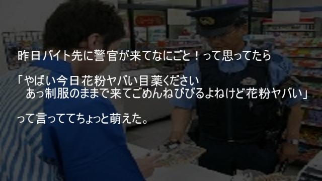 警官 花粉症