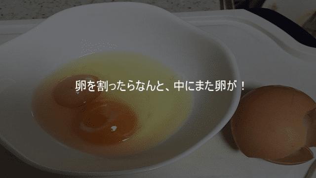 卵を割ったら中からまた卵が