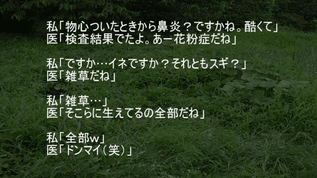 雑草花粉症