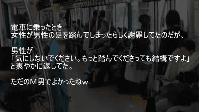 電車で足を踏んでしまった男がM男だった