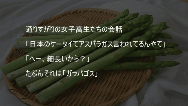 日本のケータイはアスパラガス