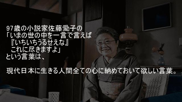 小説家佐藤愛子の言葉